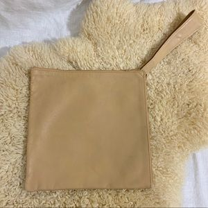 Ronay Bags - VTG Ronay Tan Leather Rare Square Wristlet Clutch